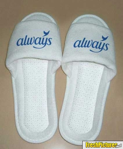 Clever 'Always' slippers